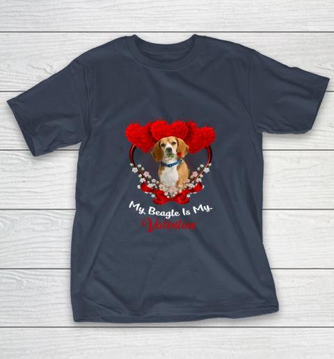 My Beagle is My Valentine Day 2019 Dog T-Shirt 3