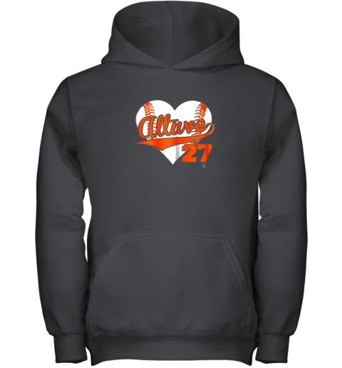 Jose Altuve Baseball Heart Shirt  Apparel Youth Hoodie