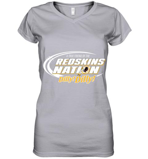 0tkq a true friend of the redskins nation women v neck t shirt 39 front sport grey