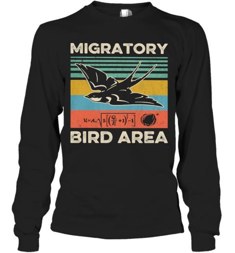 Migratory Bird Area Vintage Long Sleeve T-Shirt