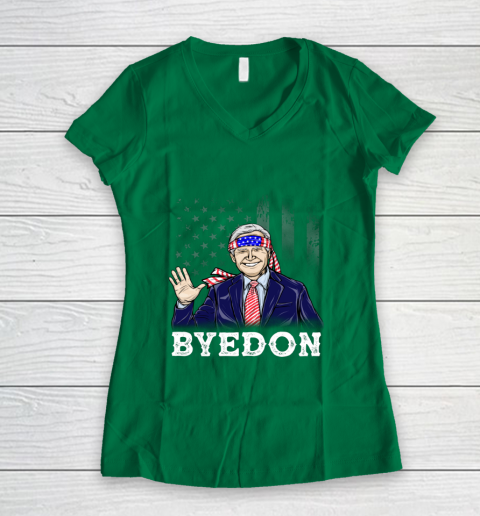 Byedon Joe Biden Anti Trump Women's V-Neck T-Shirt 11