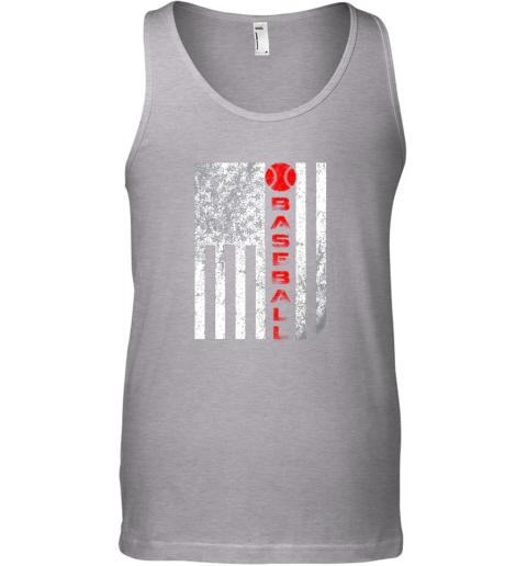 sytt usa red whitevintage american flag baseball gift unisex tank 17 front sport grey