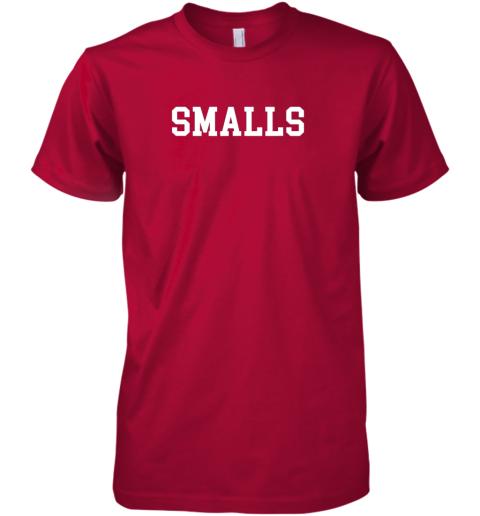wabs smalls shirt funny baseball gift premium guys tee 5 front red