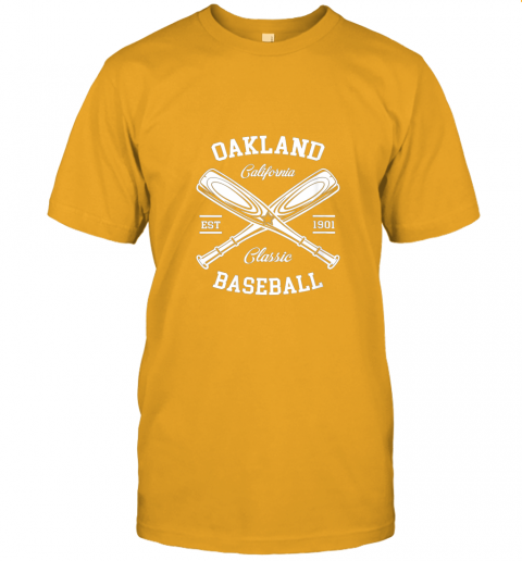 9pqv oakland baseball classic vintage california retro fans gift jersey t shirt 60 front gold