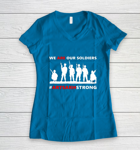 We Are Our Soldiers Women's V-Neck T-Shirt 5