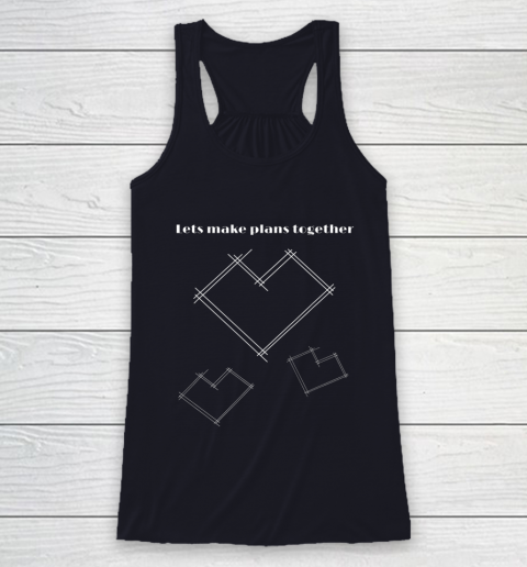 Valentine Architect T Shirt Heart Architecture Student Racerback Tank 7