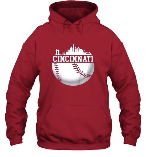 hd4y vintage downtown cincinnati shirt baseball retro ohio state hoodie 23 front red