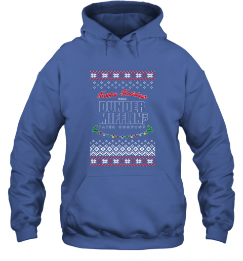 Happy Holidays From Dunder Mifflin Ugly Christmas Adult Crewneck Hoodie