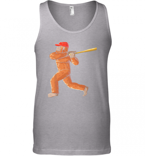 nui4 bigfoot baseball sasquatch playing baseball player unisex tank 17 front sport grey