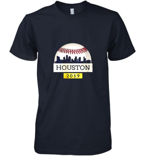 y1xb houston baseball shirt 2019 astro skyline on giant ball premium guys tee 5 front midnight navy
