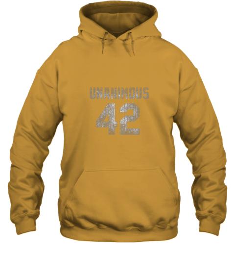 ins0 new york 42 baseball unanimous hof distressed mo hero hoodie 23 front gold