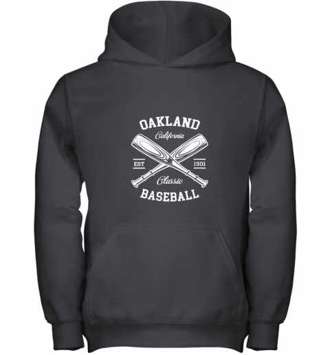 Oakland Baseball, Classic Vintage California Retro Fans Gift Youth Hoodie