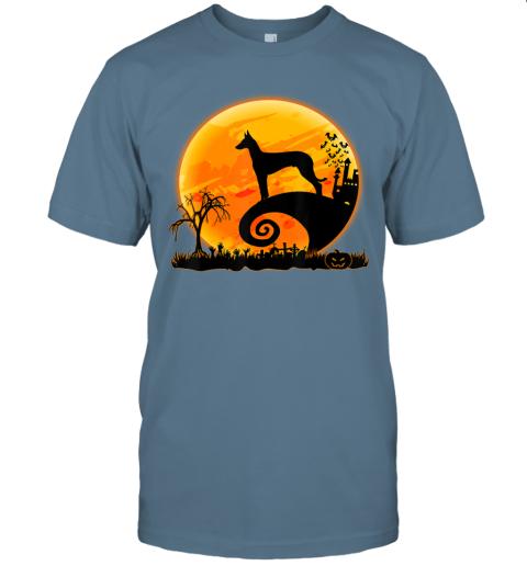 Ibizan Hound Dog Shirt And Moon Funny Halloween Costume Gift T-Shirt