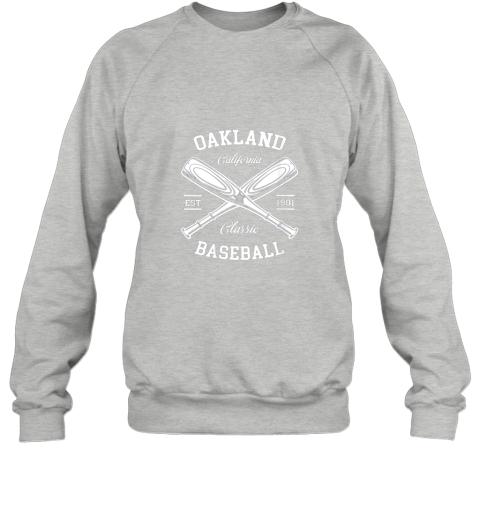 dd2l oakland baseball classic vintage california retro fans gift sweatshirt 35 front sport grey
