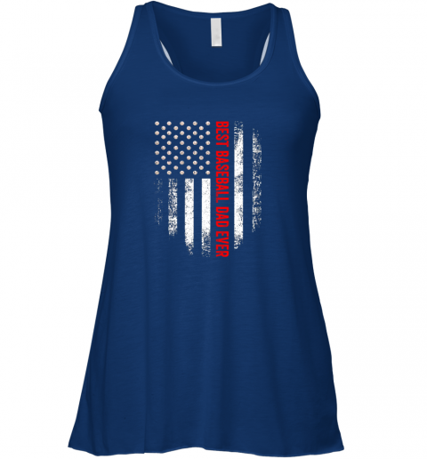 snk9 vintage usa best baseball dad ever american flag daddy gift flowy tank 32 front true royal