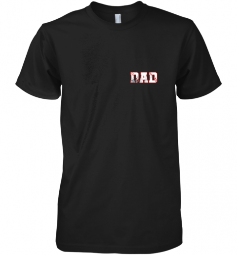 Mens Baseball Inspired Dad Fathers Day Distressed Premium Men's T-Shirt