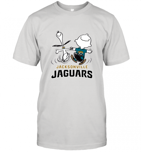 Snoopy And Charlie Brown Happy Jacksonville Jaguars Fans Unisex Jersey Tee