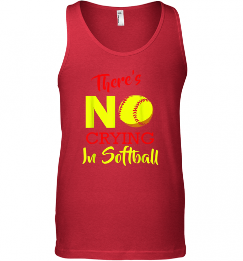 zeem there39 s no crying in softball baseball coach player lover unisex tank 17 front red