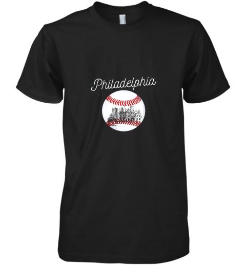 Philadelphia Baseball Philly Tshirt Ball and Skyline Design Premium Men's T-Shirt