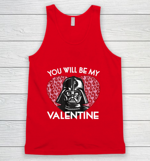 Star Wars You Will Be My Valentine Darth Vader Tank Top 5