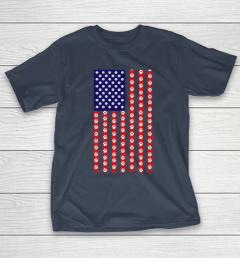 Volleyball Dog Lover American Flag T-Shirt 3