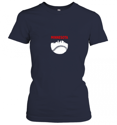jq2n retro minnesota baseball minneapolis cityscape vintage shirt ladies t shirt 20 front navy