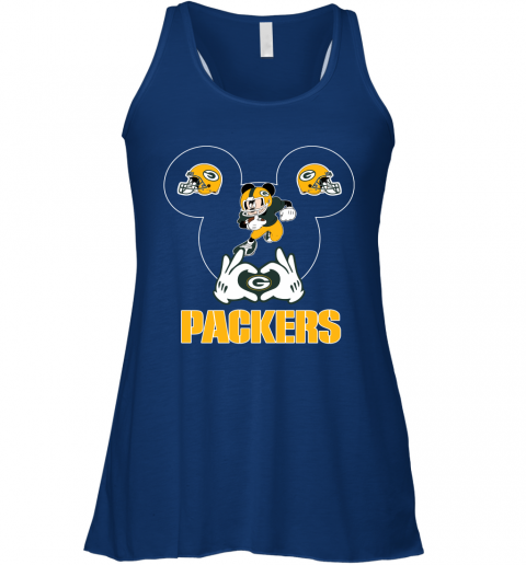 woyg i love the packers mickey mouse green bay packers flowy tank 32 front true royal