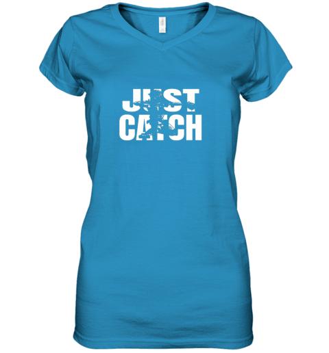 cppe just catch baseball catchers long sleeve shirt baseballisms women v neck t shirt 39 front sapphire