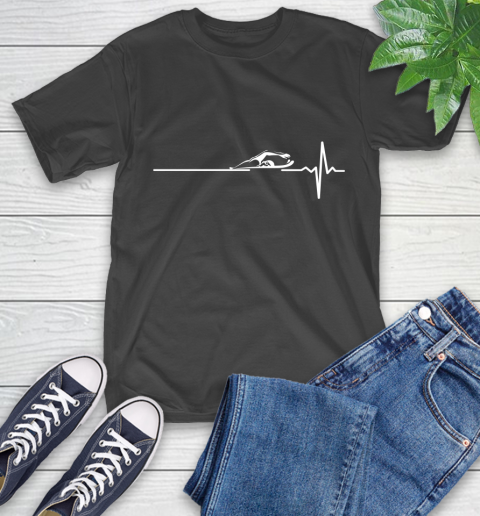 Swimming This Is How My Heart Beats T-Shirt