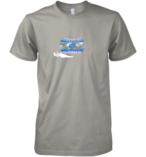 sokx vintage baseball israel flag shirt israelis pride premium guys tee 5 front light grey