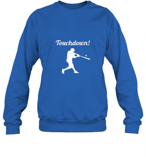 zmw1 touchdown funny baseball sweatshirt 35 front royal