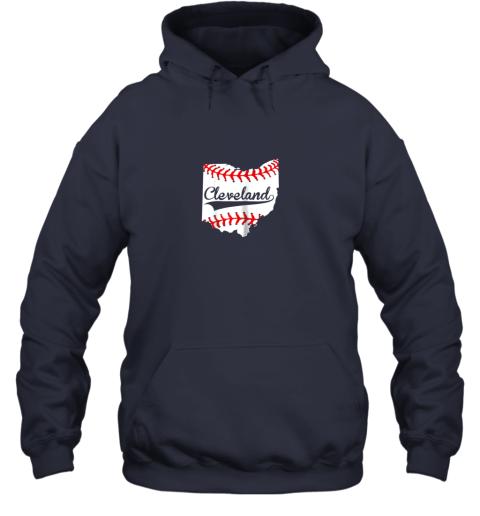 qiqu cleveland ohio 216 baseball hoodie 23 front navy
