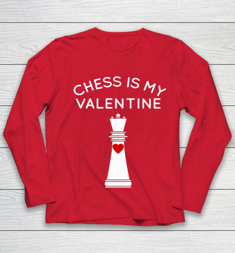 Chess Is My Valentine Youth Long Sleeve 8