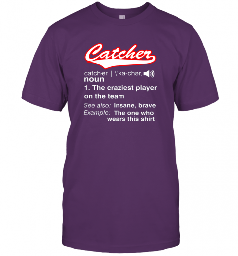 wxpk softball baseball catcher shirtvintage funny definition jersey t shirt 60 front team purple