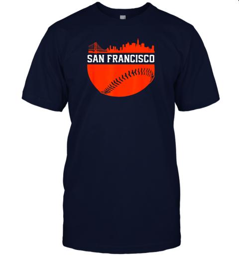 hvol san francisco baseball vintage sf the city skyline gift jersey t shirt 60 front navy