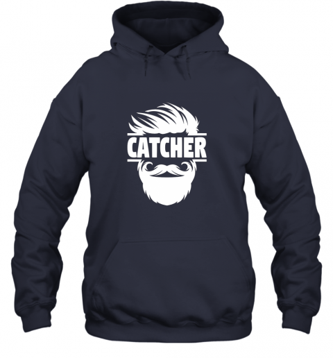 gqyp bearded baseball catcher hoodie 23 front navy