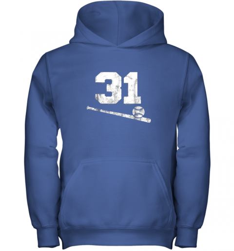 5nmw vintage baseball jersey number 31 shirt player number youth hoodie 43 front royal