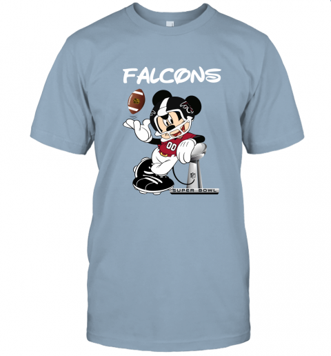 wzwj mickey falcons taking the super bowl trophy football jersey t shirt 60 front light blue
