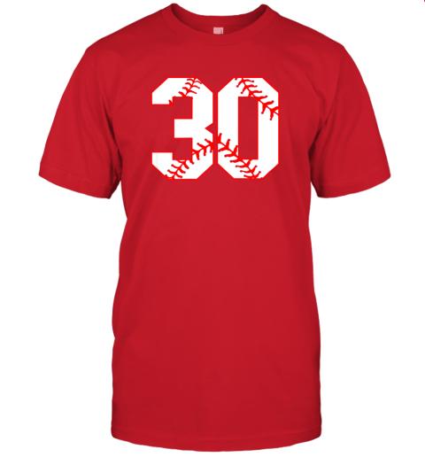wezu thirtieth birthday party 30th baseball shirt born 1989 jersey t shirt 60 front red
