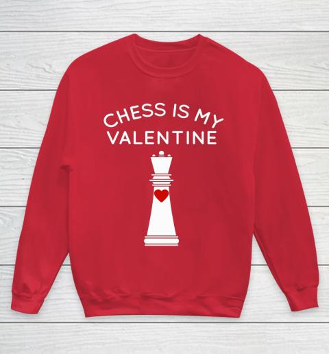 Chess Is My Valentine Youth Sweatshirt 7