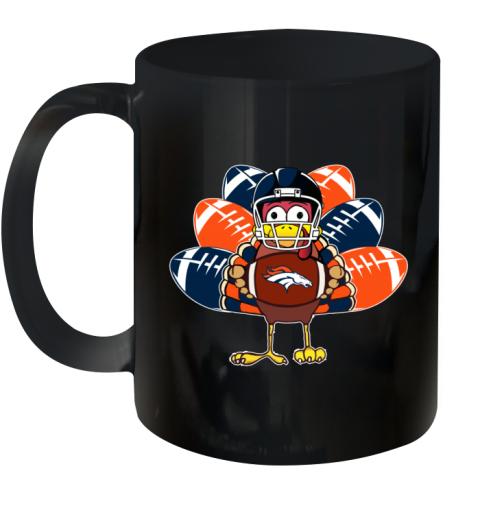 Denver Broncos  Thanksgiving Turkey Football NFL Ceramic Mug 11oz