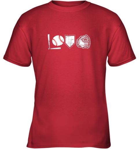 hqd1 i love baseball baseball heart youth t shirt 26 front red