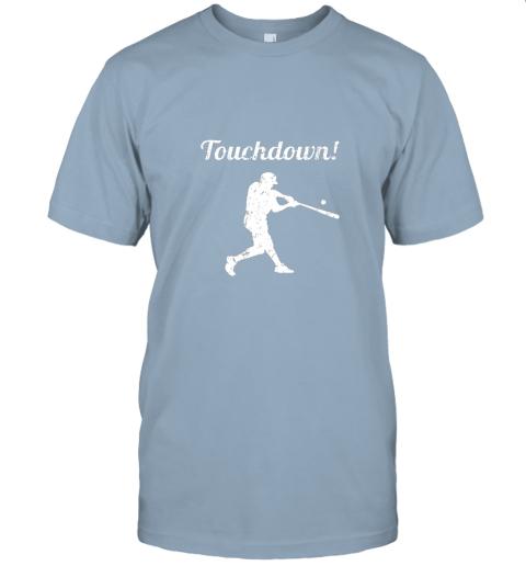 381s touchdown funny baseball jersey t shirt 60 front light blue