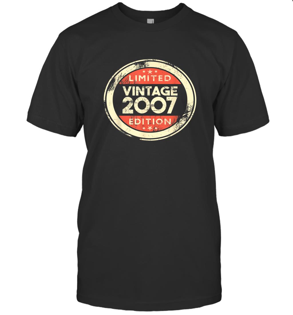 13 Year Old Boys Girls Gift 13th Birthday Gifts Vintage 2007 TShirt T-Shirt
