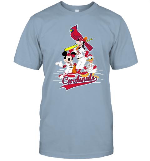 7wpr st louis cardinals mickey donald and goofy baseball jersey t shirt 60 front light blue