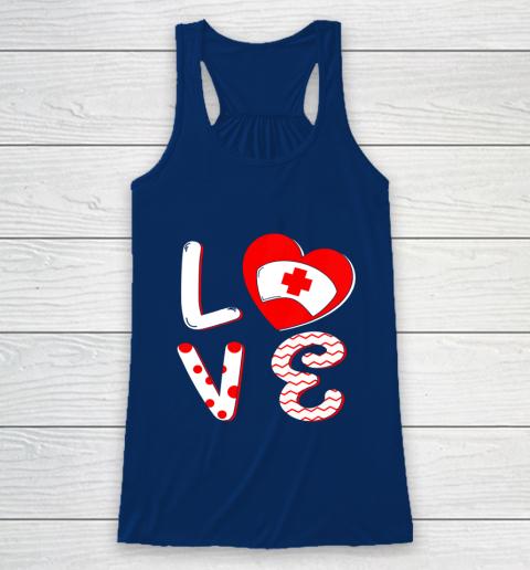 Medical Nurse Valentine Day Shirt Love Matching Racerback Tank 6