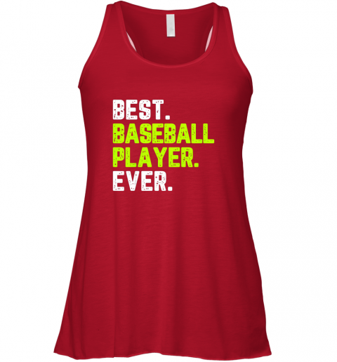 lumj best baseball player ever funny quote gift flowy tank 32 front red