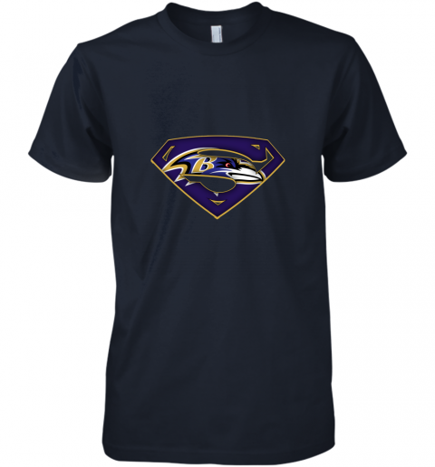 9vkp we are undefeatable the baltimore ravens x superman nfl premium guys tee 5 front midnight navy