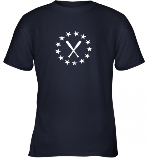 kuby baseball with bats shirt baseballin player gear gifts youth t shirt 26 front navy