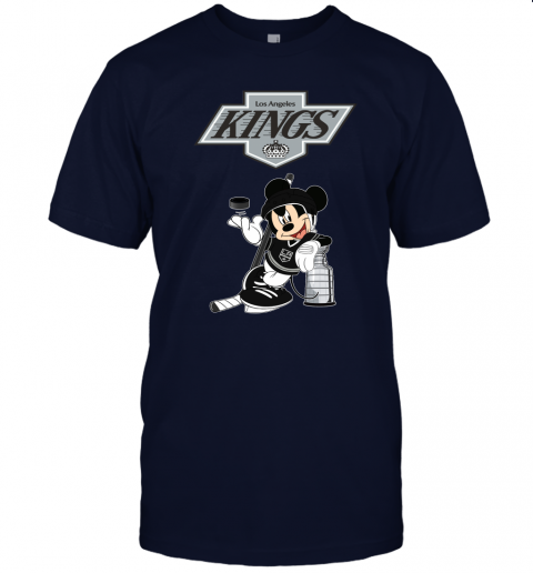 mg1x mickey los angeles kings with the stanley cup hockey nhl jersey t shirt 60 front navy